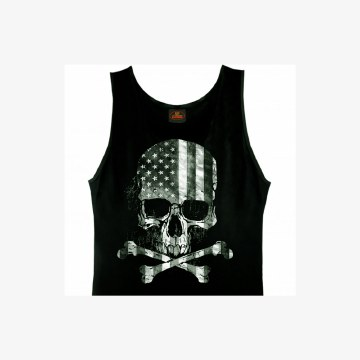 Men's TT Flag Skull Tank Top