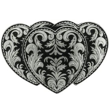 Buckle Triple Heart