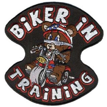 Biker In Training Patch