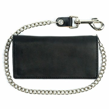 Bi-Fold Chain Wallet Black