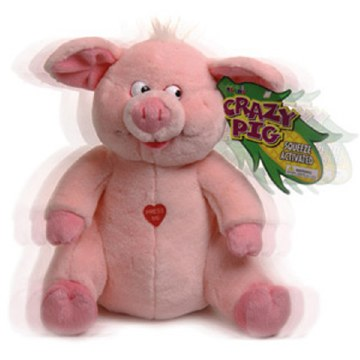 Crazy Pig Stuffed Animal