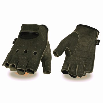 Men's Fingerless Grey Gloves