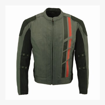 Men's Textile Jacket Blk/Grey