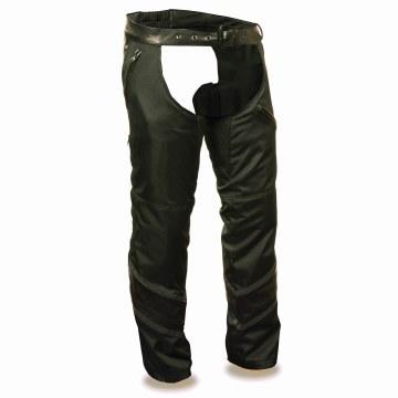 Men's Leather & Textile Chaps