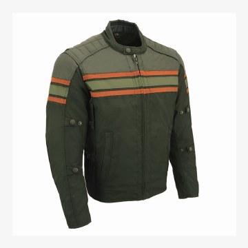 Men's Textile & Leather Jacket