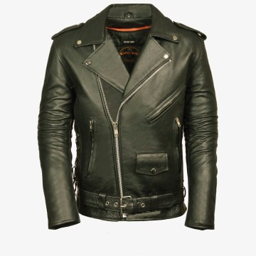 Men's Basic MC Jacket Black