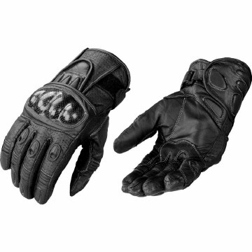 Men's Short Racing Glove Black