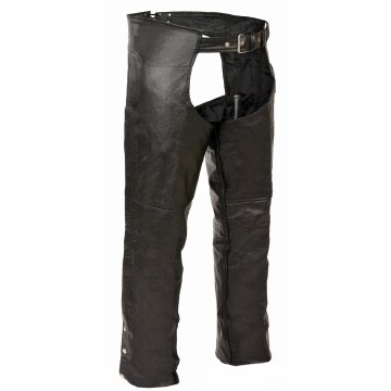 Basic Black Leather Chaps