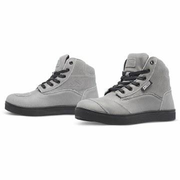 Ladies Jezebel Moto Shoe Grey