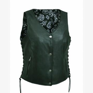 Ladies Vest W/Black Paisley