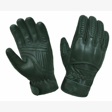 Leather W/Kevlar Gloves Black