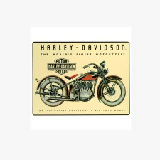 H-D 74 Big Twin Tin Sign