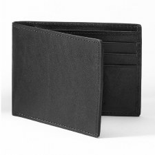 JA Leather Passcase Wallet Bk