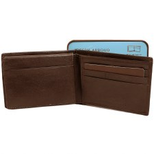 JA Leather Passcase Wallet Br