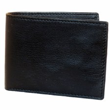 JA Leather Slimfold Wallet Bk