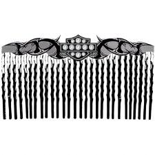 Black Tribal Shield Comb