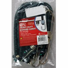 "5 Pc 18"" Black Bungee Cord"