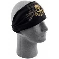 Zan Headwrap Golden Skull