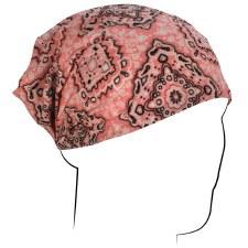 Zan Headwrap Pink Paisley