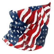 Motley Tube Wavy American Flag