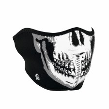 Half Mask Skull Glow In Dark