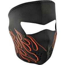 Full Mask Neoprene OrangeFlame