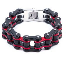 Black & Red MC Chain Bracelet