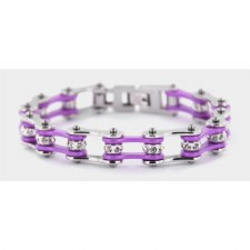 PP Link Bracelet W/Clear Stone