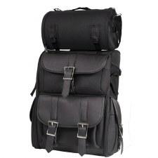 Big PVC MC Sissybar Bag Black