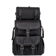 Large PVC Sissybar Bag W/Studs
