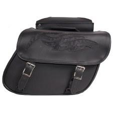 PVC Saddlebag W/Flame Black