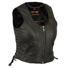 Ladies Lambskin Vest Black