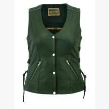 Ladies Grommet & Laces Vest
