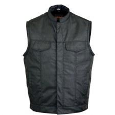 Men's Textile Conc Vest Black