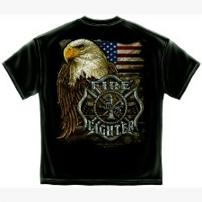 Firefighters Eagle & Flag