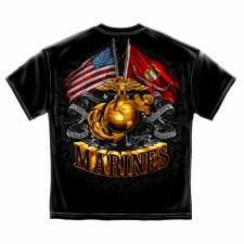 Double Flag Globe Marine Corps