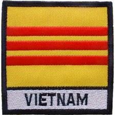 Vietnam Flag W/Tab