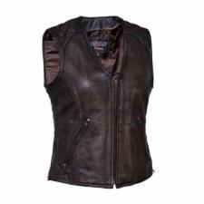 Ladies Zipped Side Laces Vest