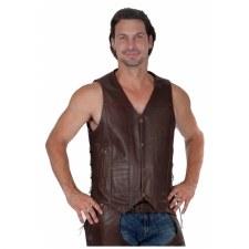 Men's 10 Pocket Vest Brown