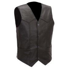 Men's 4 Snap Plain Vest