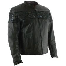 Men's Savage Skulls Jacket Bk