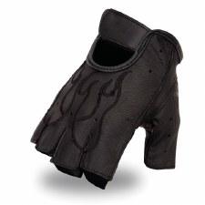 Flame Fingerless Gel Glove