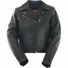 Ladies M.C. Jacket w/Rivets
