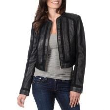 Ladies Crop Leather Jacket