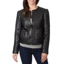 Ladies Quilted Jacket Black