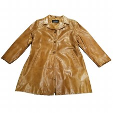 35 Inch 3 Button Coat Carmel