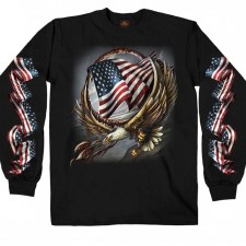 Men's LS Hoop Eagle T-Shirt