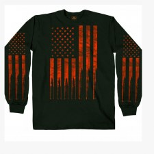 Men's LS T-Shirt Flag Bullets