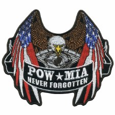 POW*MIA Flag Eagle Patch