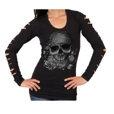 Ladies Bandana Skull
